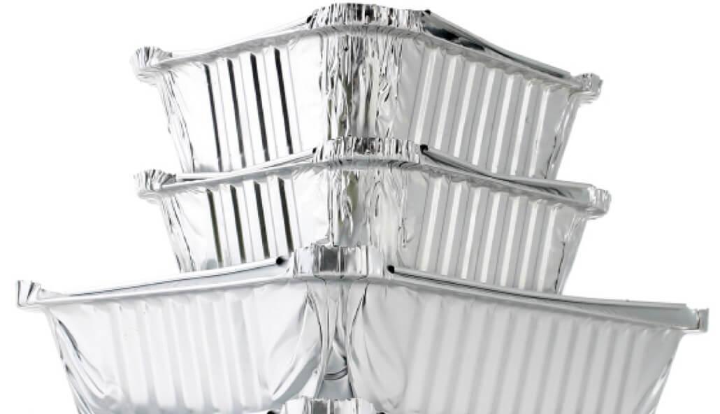 embalagens descartáveis de aluminio